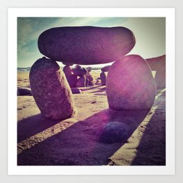 Stones on Perranuthnoe Beach Part 2 Art Print
