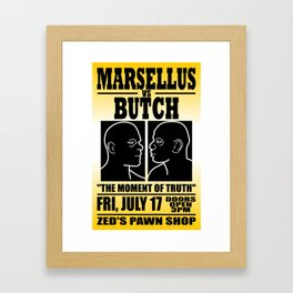 B vs M Framed Art Print