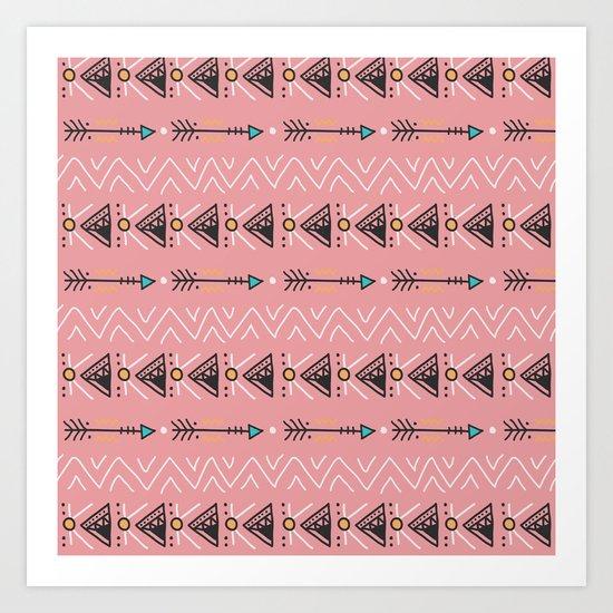 Triangle arrow pattern Art Print