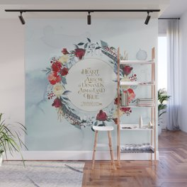 The heart is an arrow... Six of Crows Quote Wall Mural