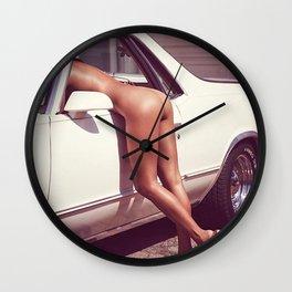 car funny pretty party bikini beautiful blonde fantasy summer holidays spring fresh birthday hipste Wall Clock