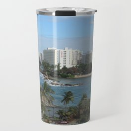 San Geronimo Fortress and view of Condado, San Juan, Puerto Rico Travel Mug