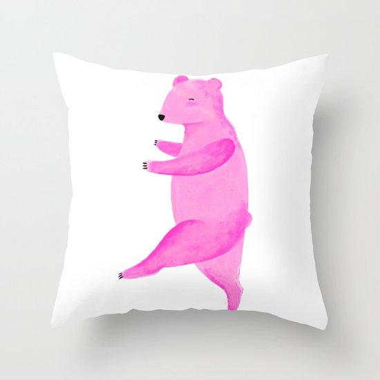 Dancing Bear №1 Throw Pillow