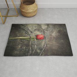 Tulip and barbed wire Rug