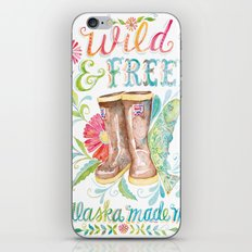 Wild and Free, Alaska Made Me iPhone Skin
