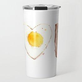 Bacon and Egg LOVE I Heart You Food Lovers Travel Mug