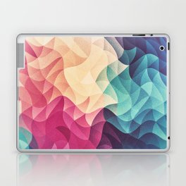 Geometry Triangle Wave Multicolor Mosaic Pattern - (HDR - Low Poly Art) Laptop & iPad Skin