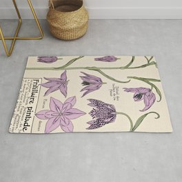 Maurice Verneuil - Fritillaire - botanical poster Rug