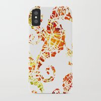 sea horse iPhone & iPod Cases featuring Sea-Horse by LIGHTNING9