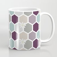 honeycomb Mugs featuring Honeycomb by Kathrin Legg