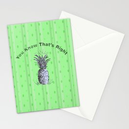 You Know That's Right - Psych Quotes Stationery Cards