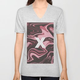ABSTRACT LIQUIDS XII Unisex V-Neck