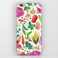 oana befort iPhone & iPod Skins featuring VEGGIES by Oana Befort