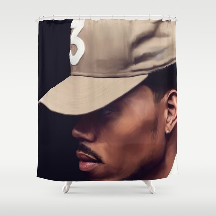 Chance The Rapper Shower Curtain By Cultureposters