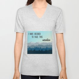 Face This Mountain (Jon Foreman Lyrics Illustration) Unisex V-Neck