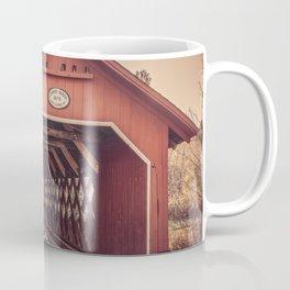 Creamery Covered Bridge Battleboro Vermont Red Historic Romantic Enclosure  Coffee Mug