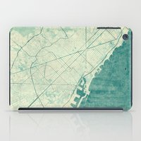 vintage map iPad Cases featuring Barcelona Map Blue Vintage by City Art Posters