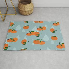 Clementines and drops Rug
