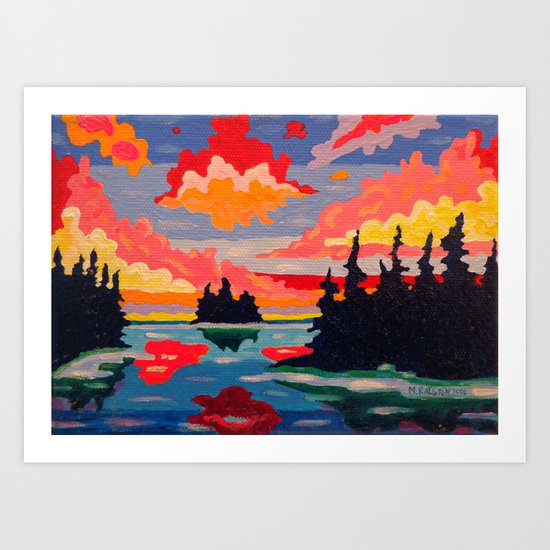 Northern Sunset Surreal  Art Print