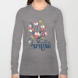 First Spring Flowers / Snowdrop, Primrose, Crocus Long Sleeve T-shirt