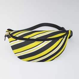 TEAM COLORS 1...double yellow,black and white. Fanny Pack