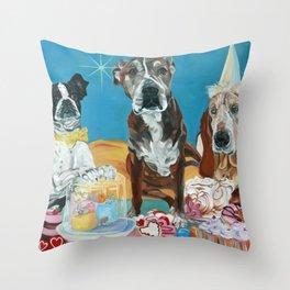 The Last Dessert Dog Portrait Throw Pillow