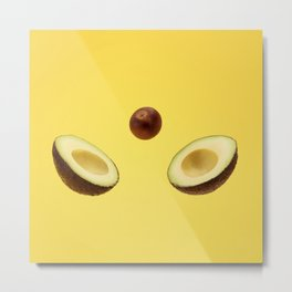 Split avocado Metal Print
