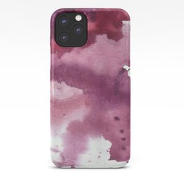 Blushing [2]: a minimal abstract watercolor and ink piece in shades of purple and red iPhone Case