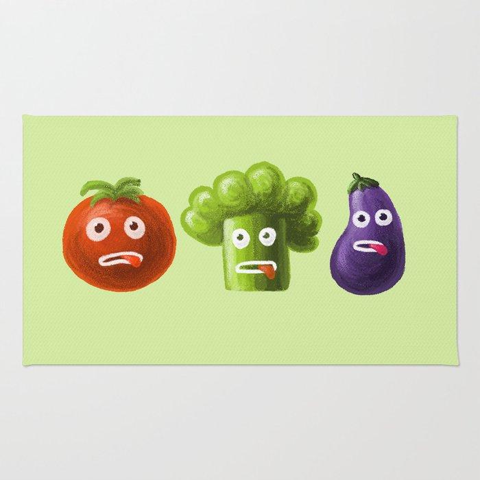 Funny Cartoon Vegetables Rug