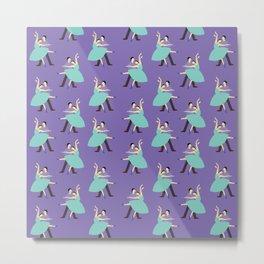 Dancing Violet Metal Print