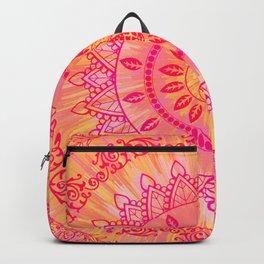 Sun Kissed Mandala Orange Pink Backpack
