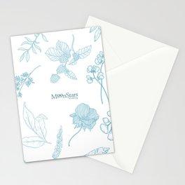 Flores minimalistas blanco Stationery Cards