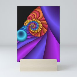 curly and colorful -2- Mini Art Print