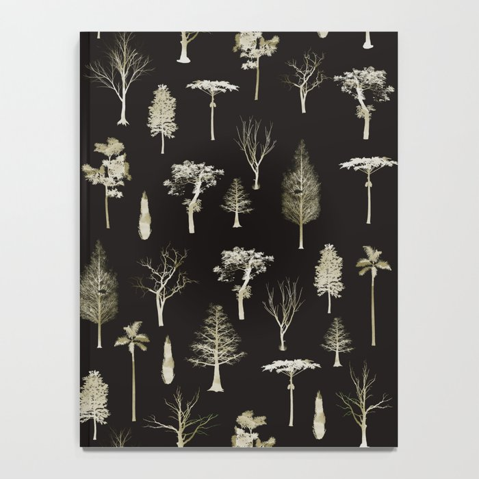 trees pattern Black edition Notebook