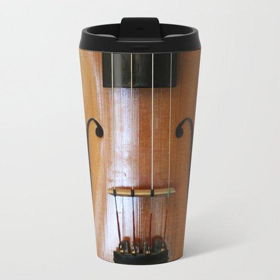 Violin Metal Travel Mug