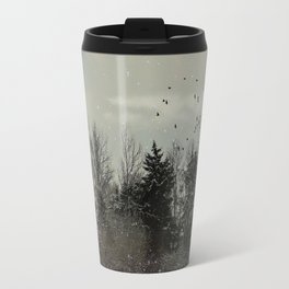 Winter, snow, frosty day. Travel Mug