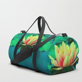 waterlily textures Duffle Bag