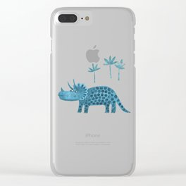 Triceratops Dinosaur Clear iPhone Case