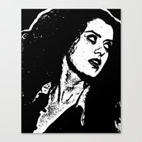 rocky horror picture show Canvas Prints featuring Magenta (Rocky Horror Picture Show) by Blake Lee Ferguson