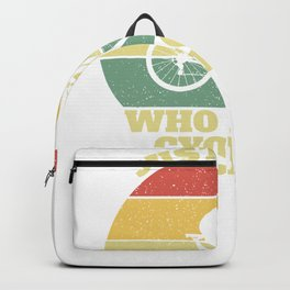 Cycling Cyclist Player Girl Woman Girls Gift  Backpack