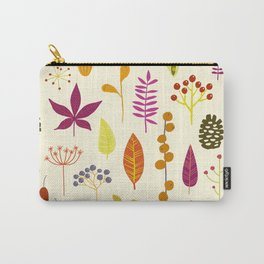 Fall Autumn Nature Forest Bits Carry-All Pouch