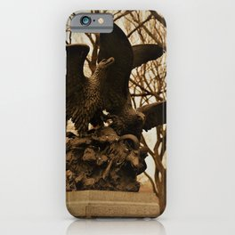 Eagles and Prey Sculpture in NYC Central Park iPhone Case
