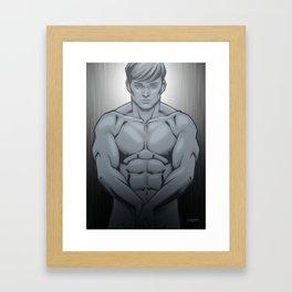 Flexing Framed Art Print