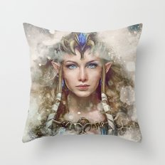 Epic Princess Zelda from Legend of Zelda Painting Throw Pillow