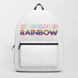 My Color Is Rainbow Backpack