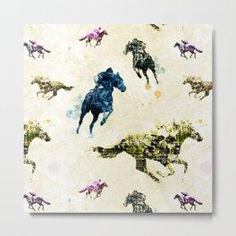 Horse Race Metal Print