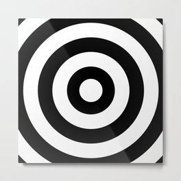 Target (White & Black Pattern) Metal Print