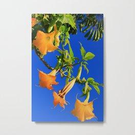 Modern Yellow Trumpet Tree Metal Print