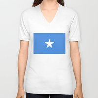 islam V-neck T-shirts featuring Somalian national flag - Authentic color and scale (high quality file) by Bruce Stanfield
