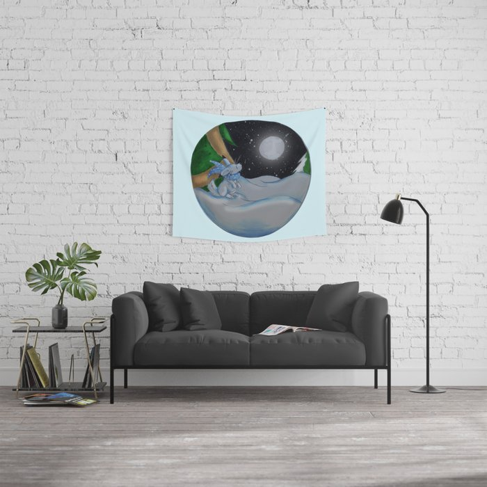 The Festive Moon Wall Tapestry